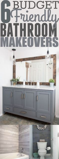 There are so many ways you can make your bathroom look modern without going over your budget. These DIY projects look professionally done, and your friends will be surprised to know that you did it yourself! Pinning for later!