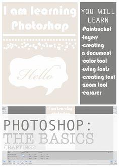 Photoshop Tips: The Basics. How to use photoshop. #craftinge