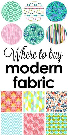 Where to buy modern fabric for reasonable prices!