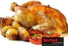 रोस्टेड चिकन - Whole Roasted Chicken Recipe - Chicken Recipes Tefal Cook4me Recipes, Herb Recipes, Diet Recipes, Cooking Recipes, Roasted Chicken And Potatoes, Whole Roasted Chicken, Stuffed Whole Chicken, Roast Chicken Recipes, Turkey Recipes