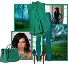 """emerald"" by bodangela ❤ liked on Polyvore"