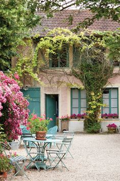 Hotel Baudy in Giverny, France, was once a rural roadside café.