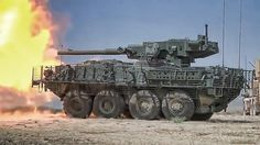 M1128 Stryker MGS firing its M68A2 105mm cannon : TankPorn