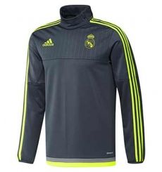 Top Entrenamiento Real Madrid 2015 2016 Gris Sudadera Real Madrid 12641f07eeeae
