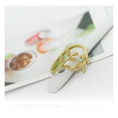Korean Style Cute Leaf Design Rings For Female