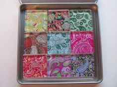 Paisley Refrigerator Magnets Set of 9 Fridge Magnets by DLRjewelry, $16.00