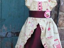 Circus 1st Birthday Dress from a Repurposed Bridesmaid Dress
