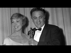 """Federico Fellini accepting Best Foreign Language Film for """"8 1/2"""": 1964 ..."""