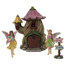 Ember Stardancer Fairy House Solar Power LED Light Patio Garden Log Ornament: Amazon.co.uk: Garden & Outdoors