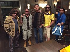Jensen tweeted: Jensen Ackles ‏@JensenAckles   #HappyHalloween from the set of #SupernaturaI and the cast of #TheBigLebowski ...White Russian anyone?