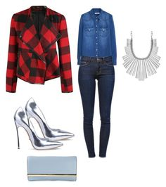 A fashion look from November 2015 featuring long sleeve tops, red jacket and distressed jeans. Browse and shop related looks. Frame Denim, Lucky Brand, Mango, Michael Kors, Shoe Bag, Polyvore, Collection, Shopping, Design