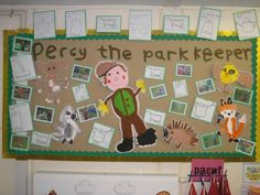 A super Percy the Park Keeper classroom display photo contribution. Great ideas for your classroom! Literacy Display, Teaching Displays, School Displays, Classroom Displays, Teaching Ideas, I Love School, Too Cool For School, Pre School, Creative Activities