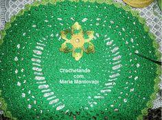 Crochetando com Maria Mantovani: Jogo de banheiro em Coração na cor verde