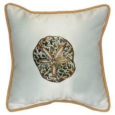 Coastal Sand Dollar Indoor / Outdoor Pillow
