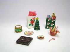 Miniature Christmas Items Doll House Gifts and Cookies by AshleysSunroom on Etsy