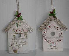 Festive Bird House using Inky Doodles Warm Winter Wishes Stamp Set  www.needleworkgardencrafts.co.uk