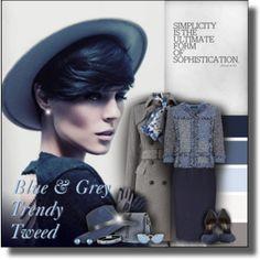 Blue & Grey Trending Tweed