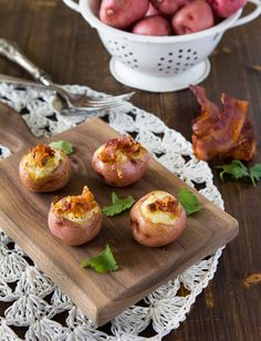 stuffed red potatoes with cheese and bacon