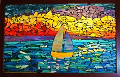 Sunset Sail on a Beautiful Summer Day Mosaic