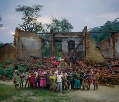 Decaying Belgian colonial-era structures speak to the area's history of mining, and to Congo's struggles with outsiders who vied for its riches.