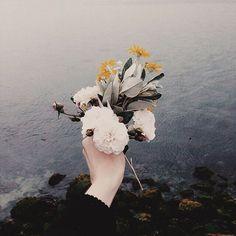 искусство, цветы, девушка, природа, фотография, море
