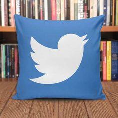 Almofada Redes Sociais Twitter 30x30 - Frete Grátis Cnshop - R$ 49,90
