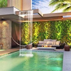 😍 Passe na OAB- link na bio! 😍 Pass the OAB- link in bio! Backyard Pool Designs, Swimming Pools Backyard, Swimming Pool Designs, Pool Landscaping, Dream Home Design, Modern House Design, Architecture Résidentielle, Luxury Homes Dream Houses, Dream Pools