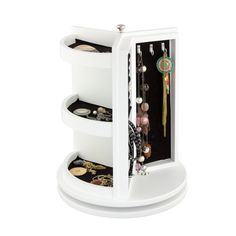 Symple Stuff Jewelry Cabinet with Mirror   Wayfair.co.uk Jewelry Cabinet, Jewelry Armoire, Drawer Handles, Door Handles, Modern Jewelry Box, Mirrors Wayfair, Drawer Dividers, Mirror Cabinets, Jewellery Storage