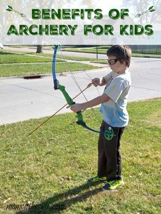 Benefits of Archery for Kids and the perfect introductory compound bow that is the official bow of the National Archery for schools. #GenesisBows ad
