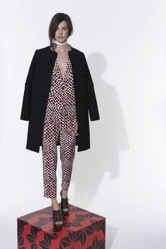 fa636c79bce9 Printed Jumpsuit by 10 Crosby Derek Lam Pre-Fall 2013 Model  Amanda Murphy