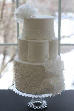 Royal Wafer Paper Wedding Cake
