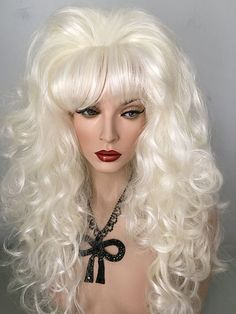 Platinum WHite Blonde, Bright Red, Classic, Drag, Queen, Wig, Medium Auburn,Light Auburn, Dark Auburn, Creamy Blonde, Black, Bright Red