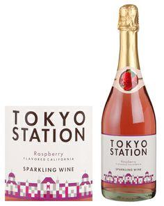 TOKYO STATION. Raspberry flavor sparkling wine