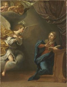 Francesco Albani  (1578–1660), The Annunciation, between 1620 and 1625,  Louvre Museum
