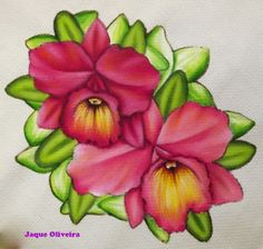 Painting on fabric. Pintura em tecido.
