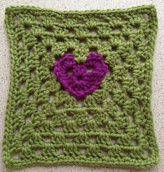 Ravelry: Project Gallery for Granny Heart Square pattern by Amelia Beebe