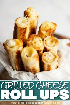 Grilled Cheese Rolls, Best Grilled Cheese Sandwich Recipe, Grilled Cheese Recipes Easy, Grilled Cheese Sticks, Cheese Roll Recipe, Grilled Cheeses, Quick Snacks, Savory Snacks, Simple Snack Recipes