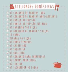 Check List | Como montar nossa lista de presentes? Kitchen Shower, Flylady, Home Alone, Instagram Blog, Maybe One Day, Home List, Dream Rooms, Home Hacks, Inspired Homes