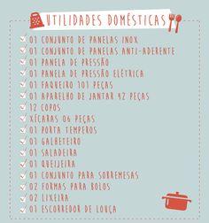 Lista - Utilidades Domésticas Como montar nossa lista de presentes?
