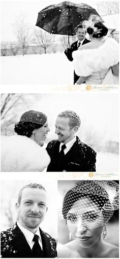 January Wedding. The snow makes for some gorgeous shots!