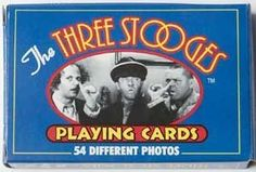 Three Stooges Playing Cards - 54 Photos Set by Midsouth Products. $4.95. Standard deck of playing cards featuring The Three Stooges.. Save 17% Off!