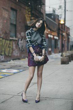 mixing colors, prints, textures- always a good time