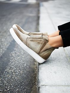 Mason High Top Sneaker | Monochrome high top sneakers with textured leather uppers and a modern, minimal design.