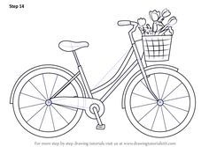 How to Draw a Cute Bicycle - DrawingTutorials101.com