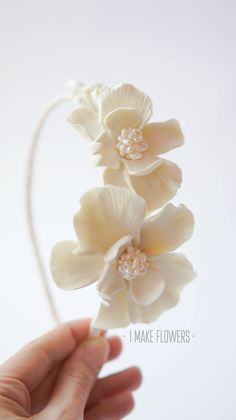 Make to order. Orchid flowers crown. Hair wreath. by imakeflowers, $55.00