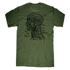 Anatomy Head Tee Men's Green, now featured on Fab.