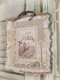 Layered Fabric Collage~  QueenBesAlteredNeeds