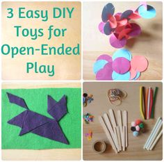 A Better Way: Three easy DIY toys for open-ended play with kids.