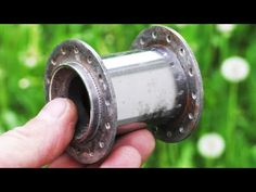 Super machine from bicycle axle ! - YouTube Jet Woodworking Tools, Green Woodworking, Homemade Tools, Diy Tools, 2x72 Belt Grinder Plans, Split System Air Conditioner, Life Hacks Youtube, Wood Shop Projects, Bicycle