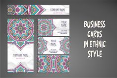 Business cards in ethnic style - Business Cards